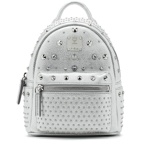 MCM Bebe Boo Backpack ($1,450) ❤ liked on Polyvore featuring bags, backpacks, rucksack bag, multi pocket bag, knapsack bags, mcm bags and studded backpack