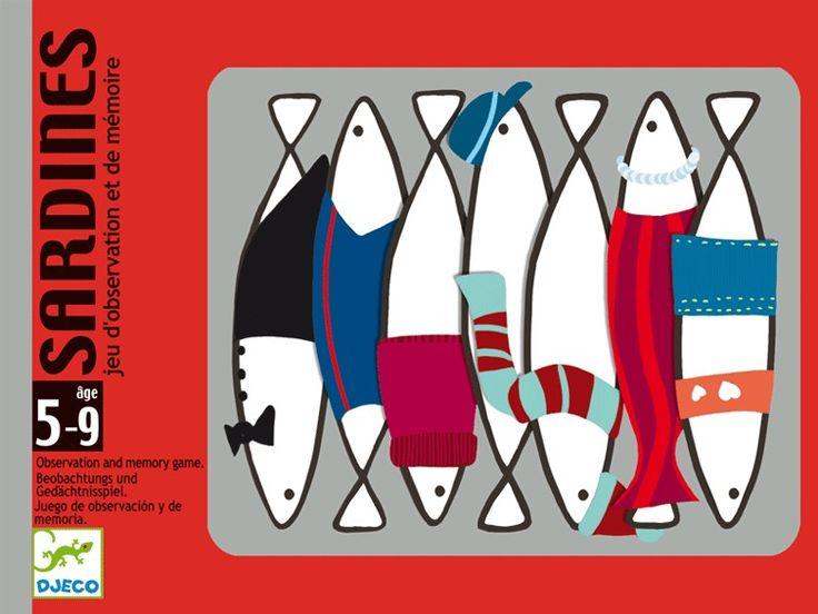 Sardines- memória kártyajáték mókás szardíniákkal (Djeco-Sardines)