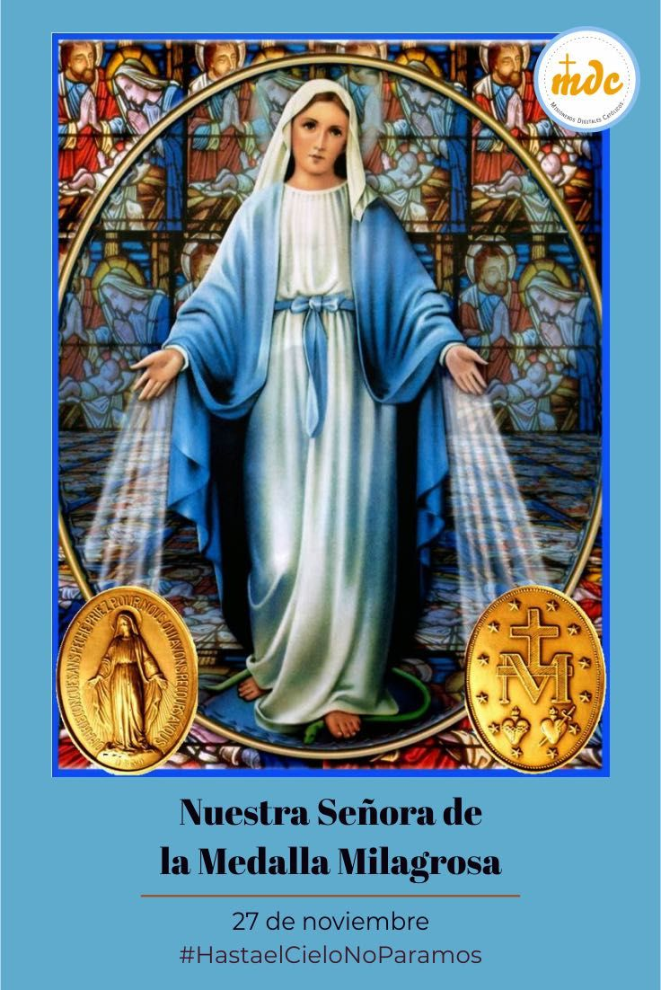 Nuestra Señora De La Medalla Milagrosa Medallas Vidas De Santos Imagen Rosa