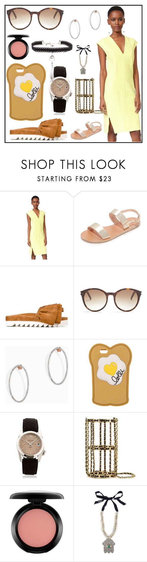 """""""Your style and your store"""" by denisee-denisee ❤ liked on Polyvore featuring Narciso Rodriguez, Ancient Greek Sandals, Joshua's, Yves Saint Laurent, MAHA LOZI, Lolli, March LA.B, Chanel, MAC Cosmetics and Figue"""