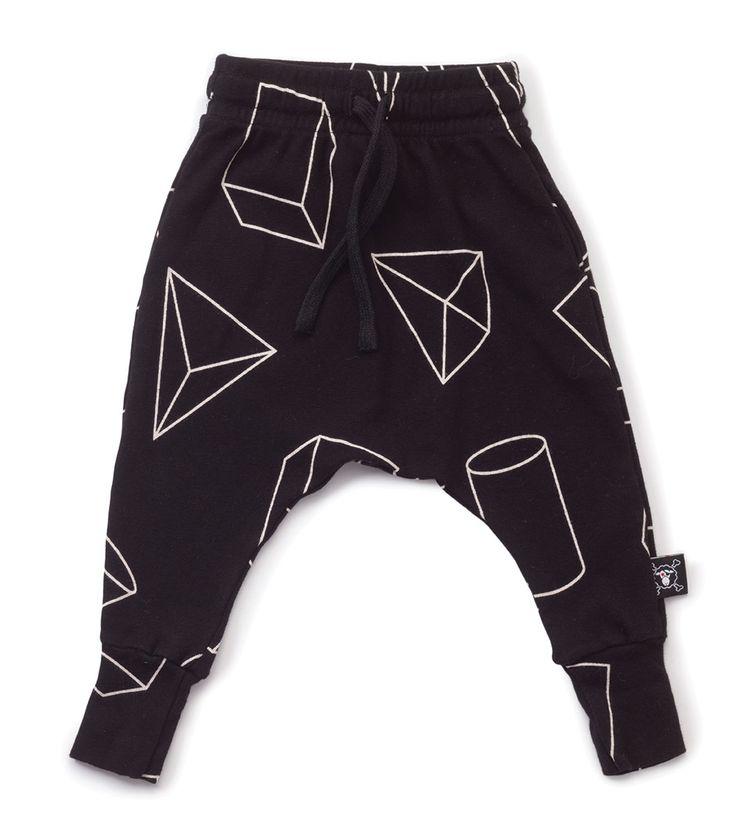 Nununu Geometric Baggy Pants Black