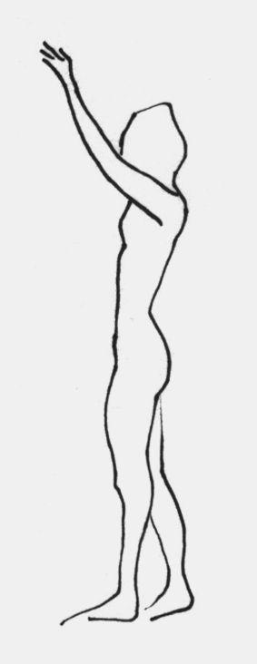 'Standing figure' sketch by Giulia Benaglia