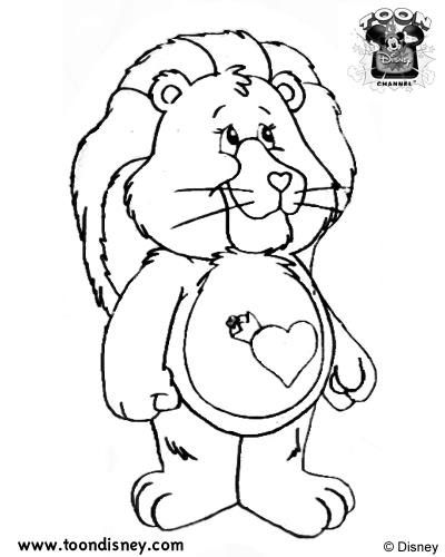 Colouring Pages Care Bears Cousins
