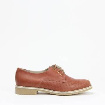 KMB X866 Brogue Style Perforated Lace Up Cuero Leather
