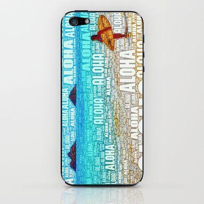 Aloha iPhone & iPod Skin by Stoneriver - $15.00  LIVE ALOHA Art Print by Stoneriver - $15.00   #hawaii #sunset #romantic #vacation #travel #trip #silhouette #palmtree #nature #dusk #landscape #ocean #surfing #oahu #waikiki #waikikibeach #beach #tropical #typography #aloha #livealoha #colorful #happy #present #lanikai #lanikaibeach #iphone #iphonecase #iphoneskin #iphone6 #iphone5s