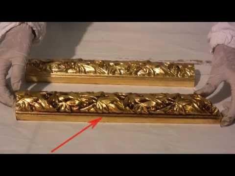 Мастер класс Золочение и состаривание багета Gilding and patination molding bykovskaya com - YouTube
