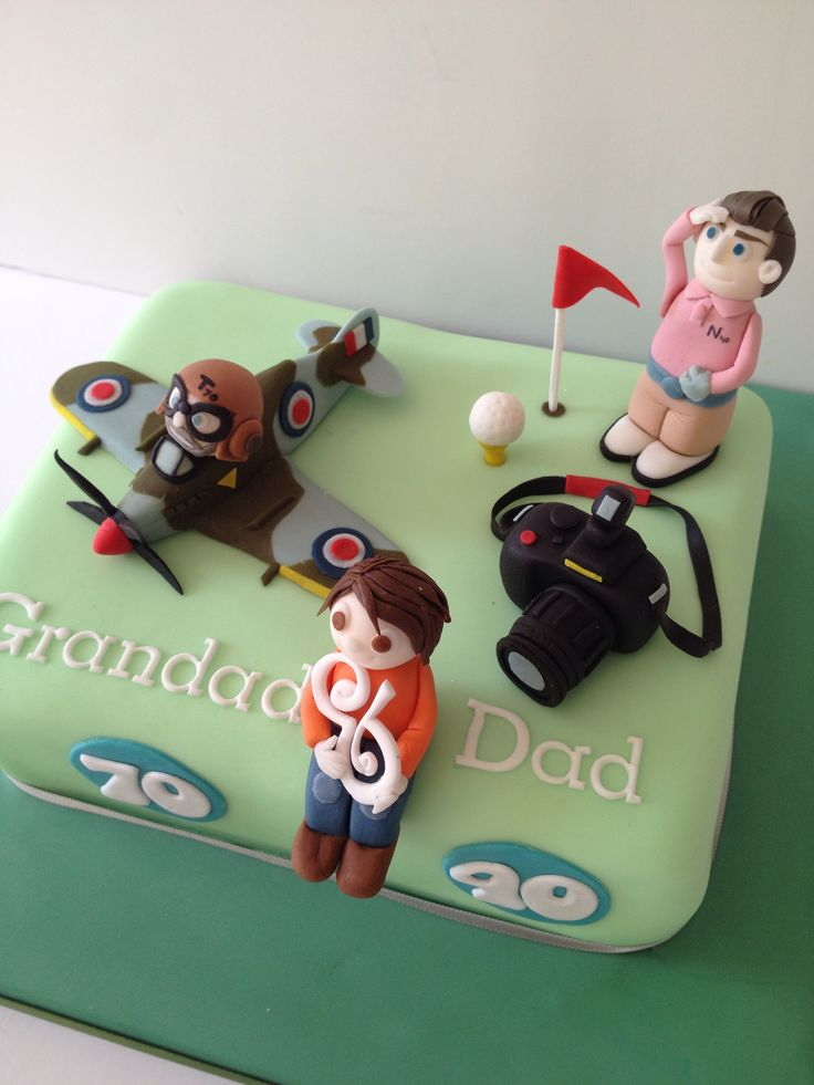 Joint 70th And 40th Birthday Cake For Grandad Who Likes