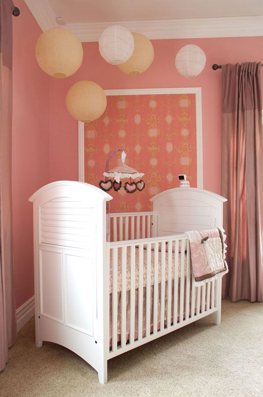 Love the ceiling decor, and the boarded wallpaper... Search: EllaNursery @ Apartment Therapy.com