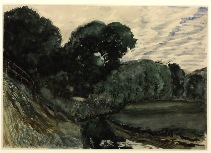 William Richard Lethaby 'Evening Landscape', date not known