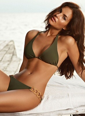 Army Green Bikini - Remember when you used to wear that type of suit?  Cute