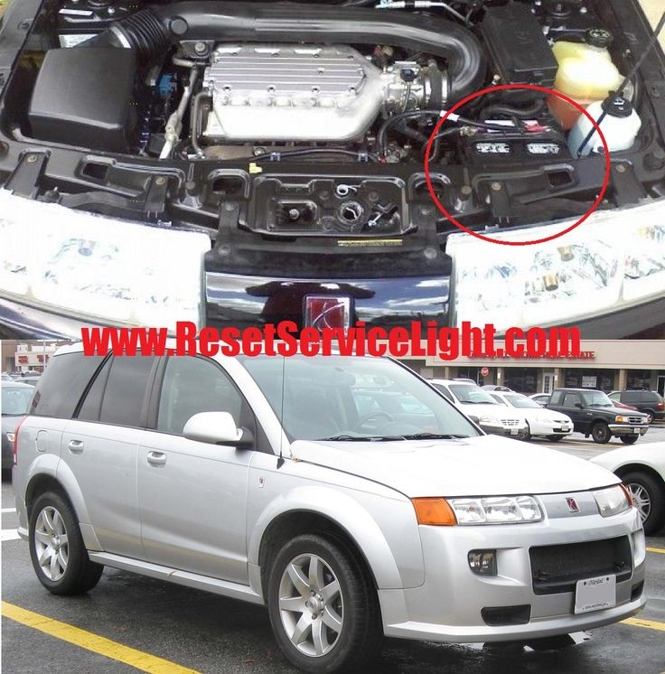 Replace battery Saturn Vue http://resetservicelight.com/change-battery-saturn-vue-2002-and-2007/