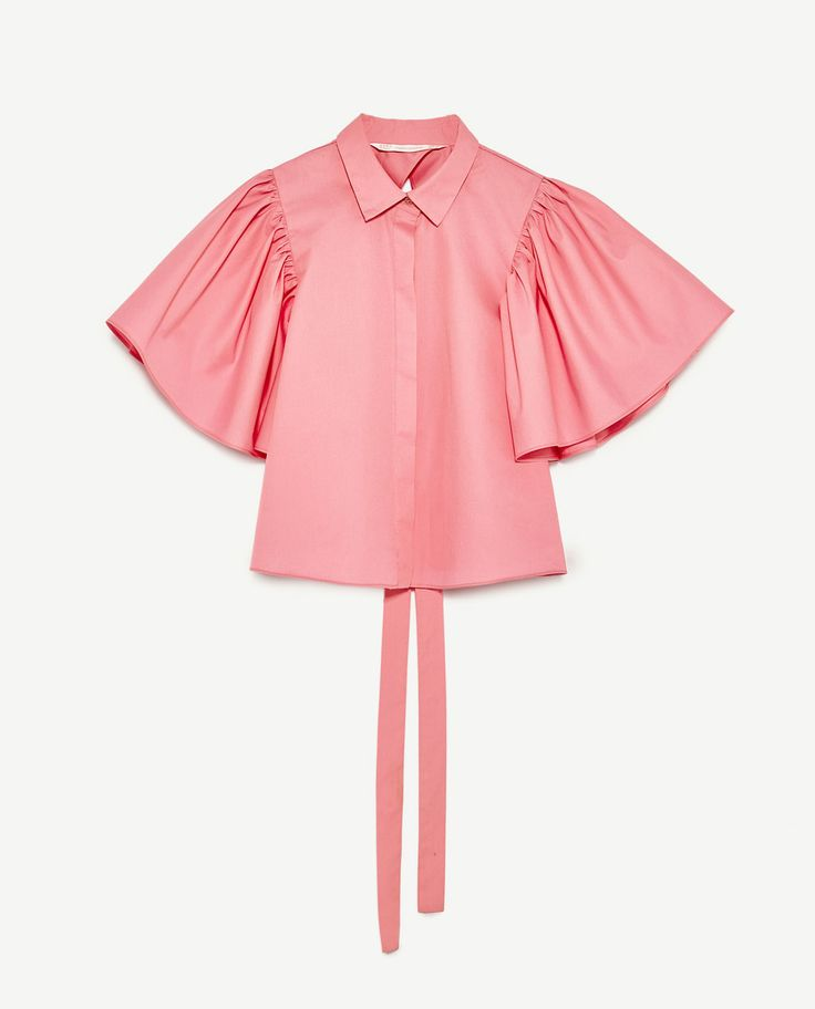 Image 8 of SHIRT WITH BACK TIE from Zara