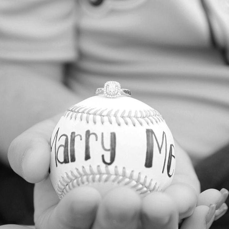Detroit Tigers baseball wedding proposal idea