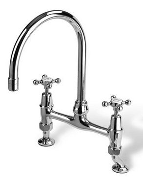 Kitchen Mixer Tap With Crossheads - £438.00 - Hicks and Hicks