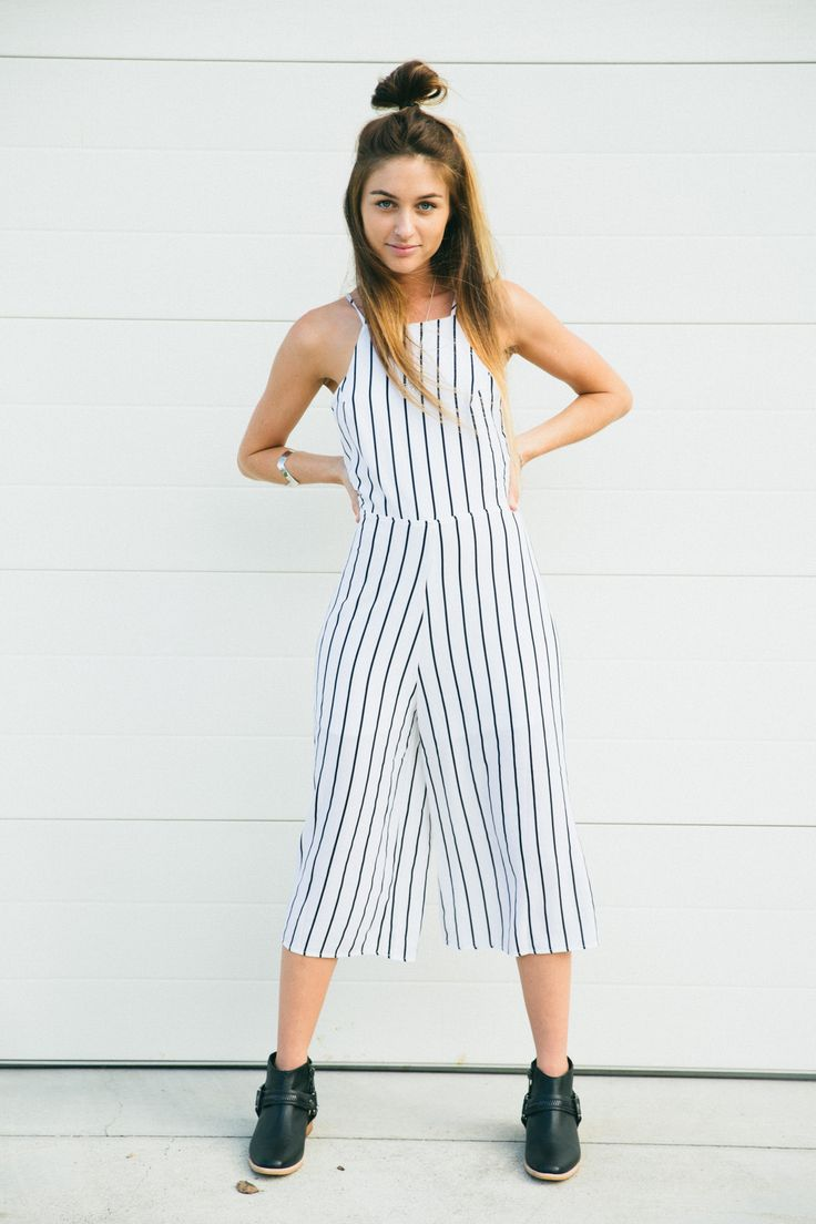About a Girl  - Dally Stripe Jumpsuit