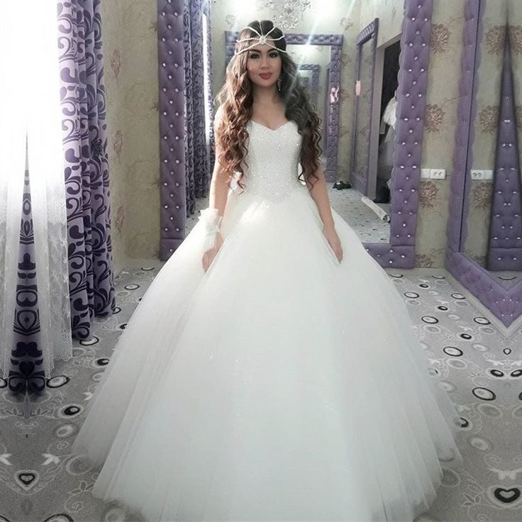 Bling Bling Sequins Beading Organza Ball Gowns Wedding Dresses