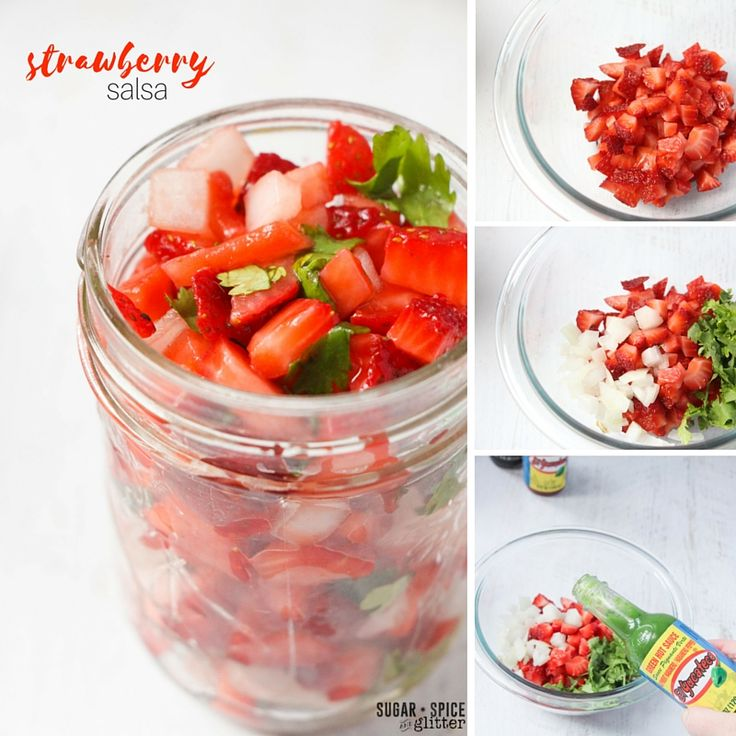 Fresh Strawberry Salsa with El Yucateco