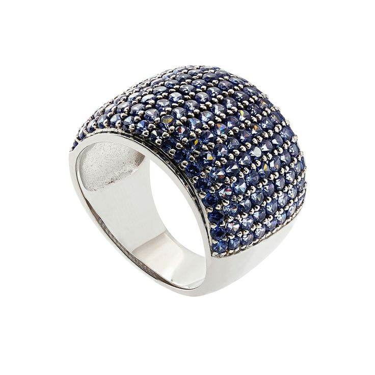 Oxette Sterling Silver 925 Ring with blue zircons - Available here http://www.oxette.gr/kosmimata/daktulidia/ster.silver.ring-tanzanite-cz-619l-1/  #oxette #OXETTEring #jewellery