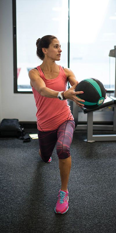 Set a goal to build strength using Kara Goucher's core routine.