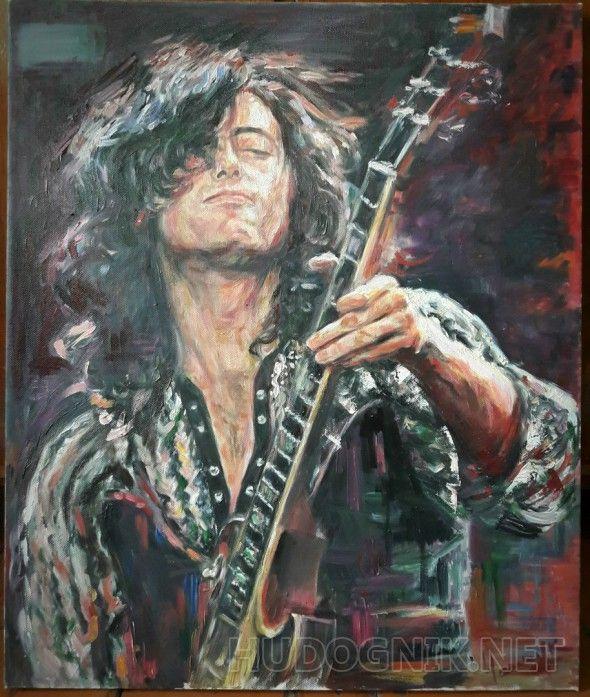 Портрет рок музыканта Портрет рок музыканта. Джимми Пейдж.
