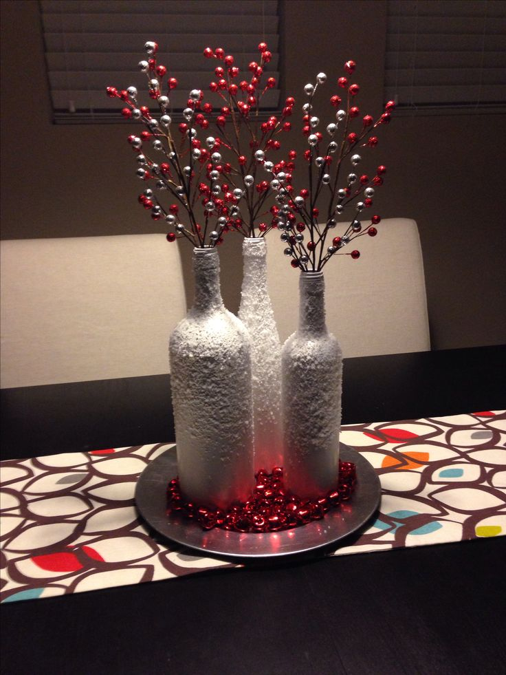 248 best images about diy on pinterest for Wine bottle table centerpieces