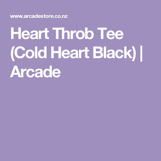Heart Throb Tee (Cold Heart Black) | Arcade