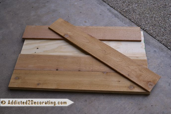 Make an inexpensive wood countertop for a bathroom with cedar fence pickets