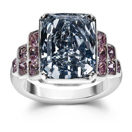 natural blue and pink diamond ring -- natural color diamond association