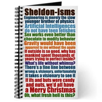 Sheldon Quotes Journal   Gifts For A Geek   Geek T-Shirts