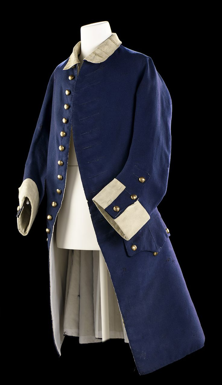 Royal Navy Midshipman's Uniform (image 2) | England | 1748 | brass; linen; wood; wool | National Maritime Museum, Greenwich | Object ID: UNI0006