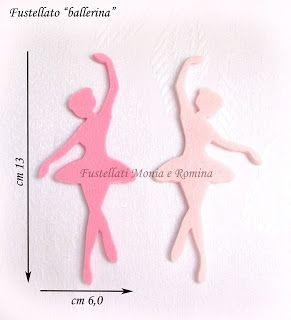 fustellati a forma di ballerina danza classica balletto, feltro pannolenci