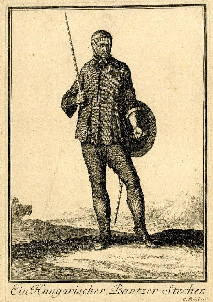 A Hungarian Armoured Swordsman, by Caspar Luyken.