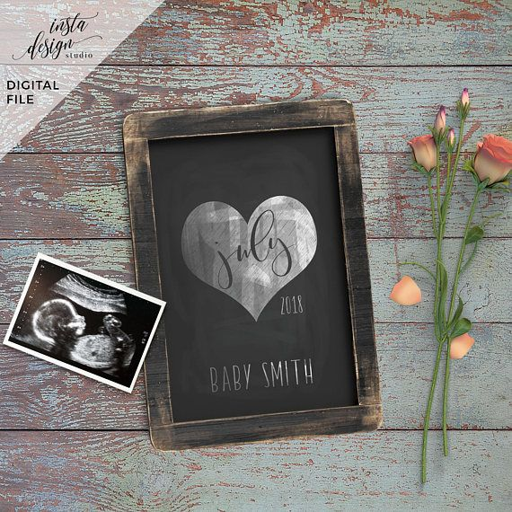 Pregnancy announcement social media template. Perfect for using on Facebook or Instagram. We customize for you! Send us your photo and information and we send you back a high resolution jpeg file for you to use as much as you wish. You will receive your photo within 24 hours