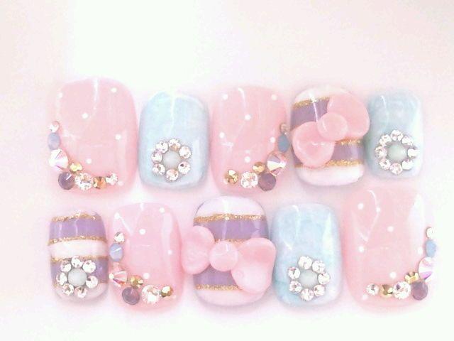 Cute pastel nail art