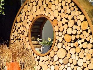 Stahl und Holz als Sichtschutz
