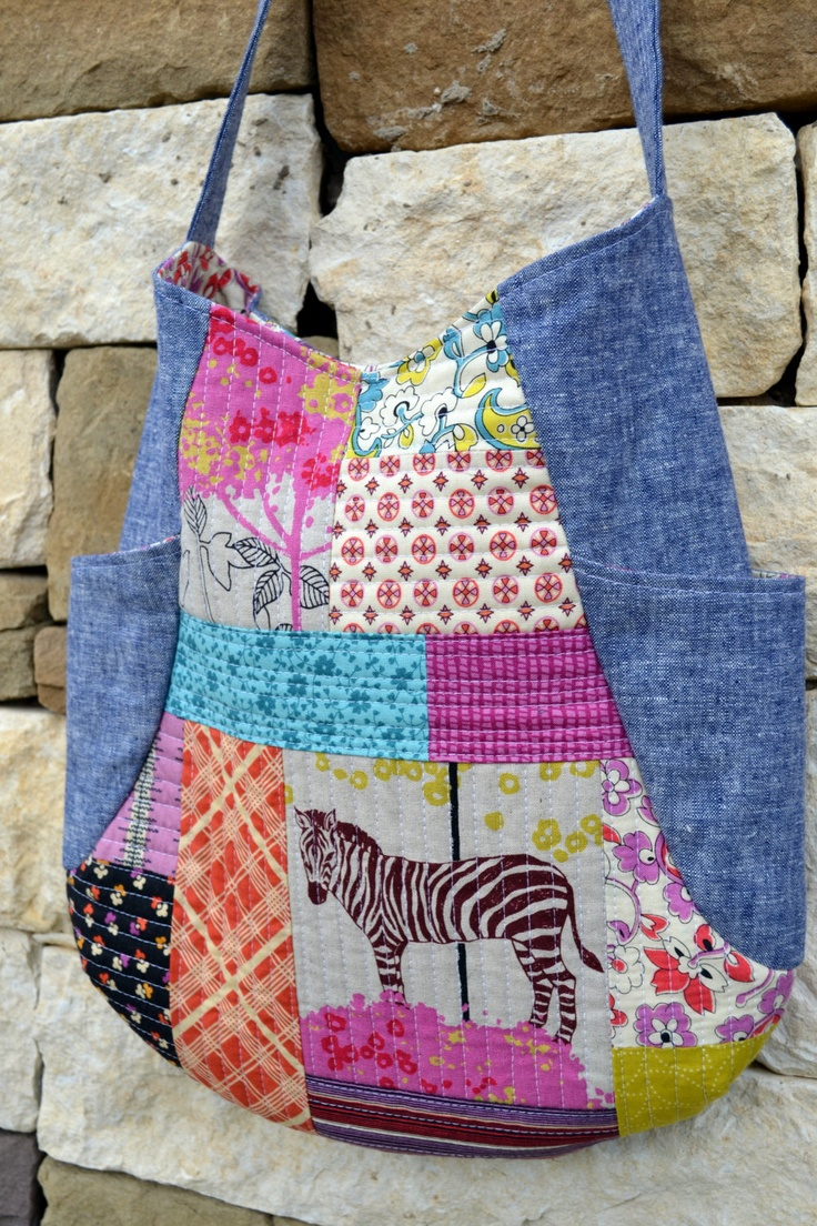 The Zebra Quilted Patchwork 241 Tote Bag by HalfStitched on Etsy, $68.00