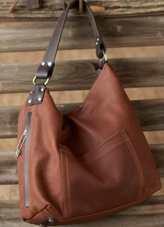 Want this one too...Concealed Carry Purse: Saddle-colored Bison Americana Soft Hobo