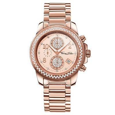 There is nothing more beautiful than this sose gold-coloured watch by THOMAS SABO.