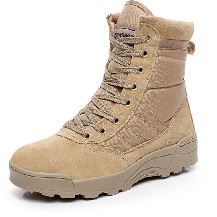 Men tooling shoes autumn round special offer Desert boot SWAT outdoor fashion combat boots no-slip Wear resistant breathable