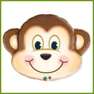 Mischievous Monkey Super Mylar Balloon, $6.19 Cdn each http://www.allthatstuff.net/SafariAdventure/safari-adventure-party-supplies.html