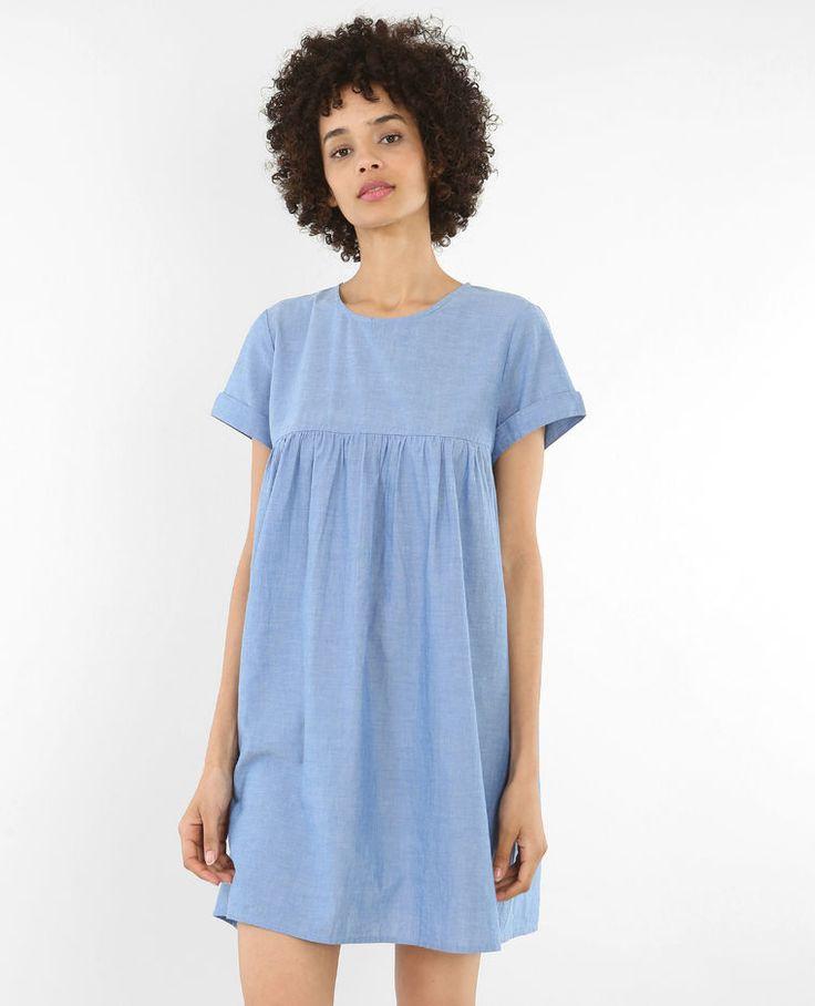 Robe babydoll bleu