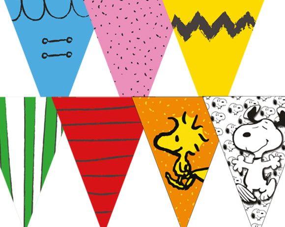 Bandeirola para Mesa Parabéns Snoopy   Rabisco Colorido   Elo7