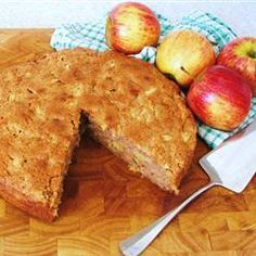 APPLE CAKE Ingredients 2 eggs  1 cup vegetable oil  2 cups white sugar  2 cups all-purpose flour  2 teaspoons ground cinnamon   1 teaspoon baking soda  1/2 teaspoon salt  1 teaspoon vanilla extract  4 cups diced apple without peel   Directions 1Preheat oven to 350 degrees