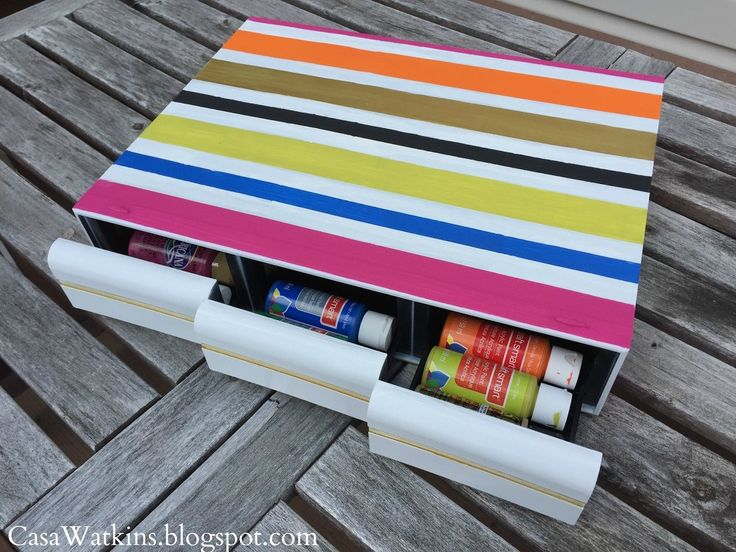Paint Storage From Upcycled Cassette Tape Holder | Hometalk