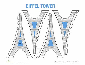 Build an Eiffel Tower Model! Just print it out, cut, and glue.