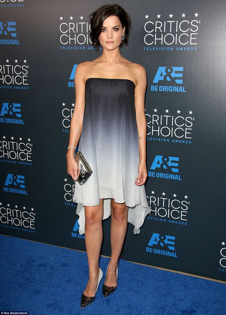 Ombre effect: Jaimie Alexander was dressed in Halston Heritage