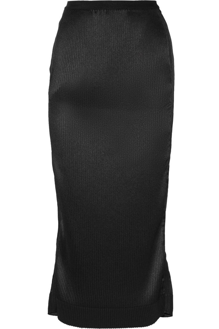 BARBARA CASASOLA Pleated crepe de chine midi skirt. #barbaracasasola #cloth #skirt