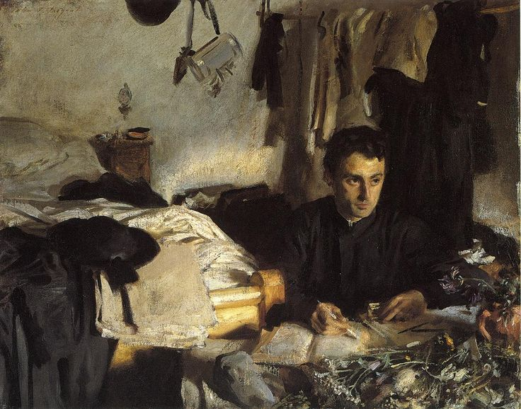 Padre Sebastiano by John Singer Sargent. Start Date: c.1904, Completion Date:c.1906, Dimensions: 56.51 x 71.12 cm, Gallery: Metropolitan Museum of Art, New York City
