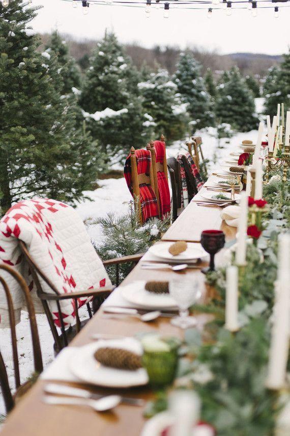 Snowy Christmas Tree Farm Wedding Ideas Snowy Christmas Tree Christmas Farm Christmas Tree Farm