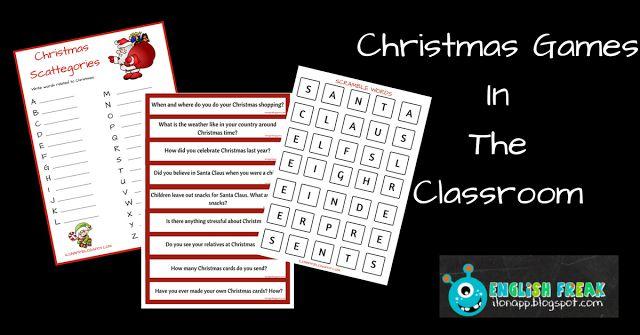 English Freak | Blog o nauczaniu języków obcych: CHRISTMAS GAMES IN THE CLASSROOM